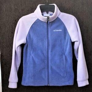 Columbia Fleece Jacket Girls 7/8 Small Full Zip